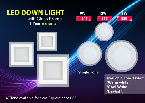 LED_Downlight_with_Glass Frame
